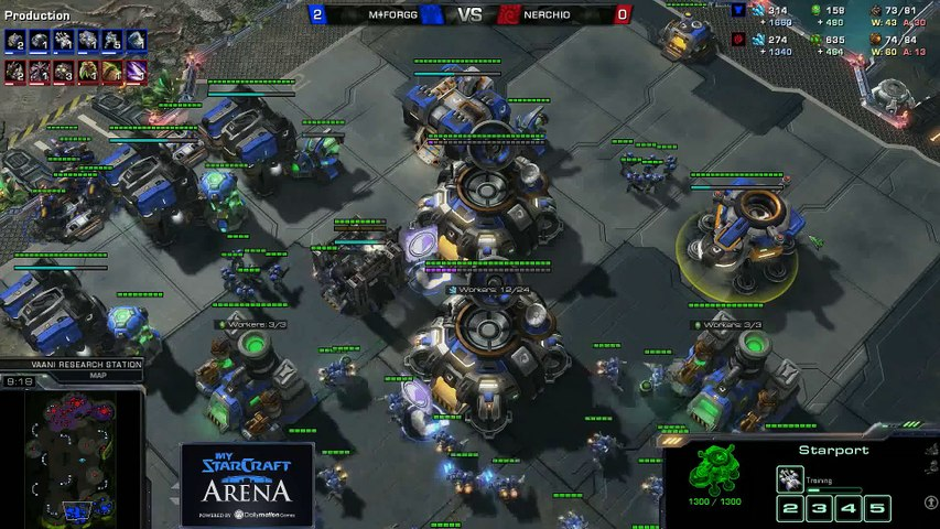 forGG (T) vs.Nerchio (Z) - MyStarCraft Arena #6 powered by Dailymotion StarCraft II Heart of the Swarm