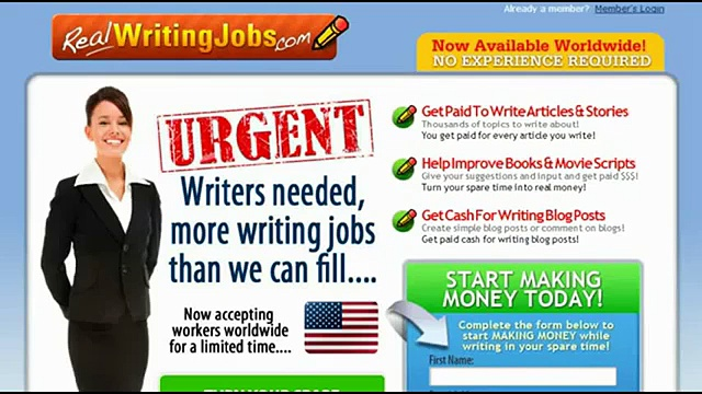 Real Writing Jobs [Best Offer] [LEGIT Website]