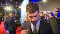 Shailene Woodley and Theo James at Insurgent World Premiere