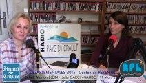PEZENAS - 2015 - ELECTIONS DEPARTEMENTALES 2015 - CANTON de  PEZENAS - Julie GARCIN-SAUDO - Marion BLEIN