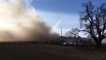 Fire at the Thoroughbred Center on Paris Pike, Lexington, KY