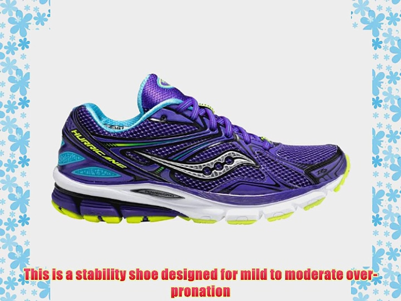 81fa83bb Saucony Women's Hurricane 16 Running ShoePurple/Blue/Citron9 M US