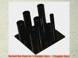 Barbell Bar Rack for 5 Olympic Bars   2 Regular Bars