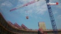 Les tribunes du futur stade du Racing Métro 92 sont posées