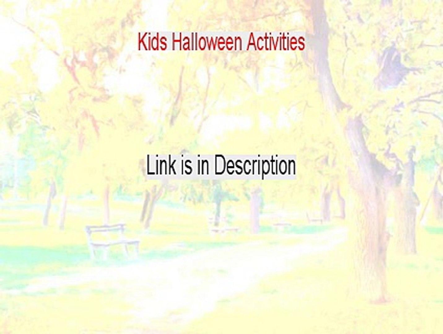 Kids Halloween Activities Reviewed - My Review [2015]