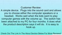Plantronics PC Headset Speaker Switch Review