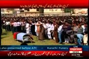 Funeral prayers of MQM worker Waqas Ali Shah offered