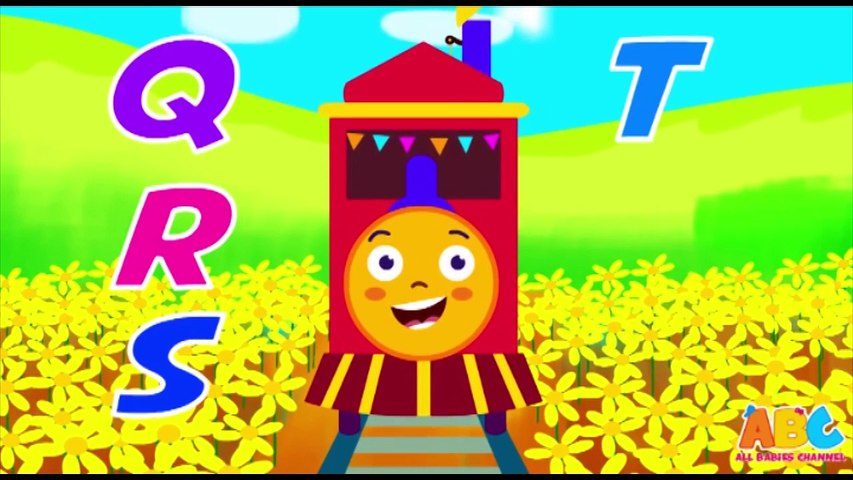 ABC Train Song, Learning Alphabets with Train - All Babies Channel