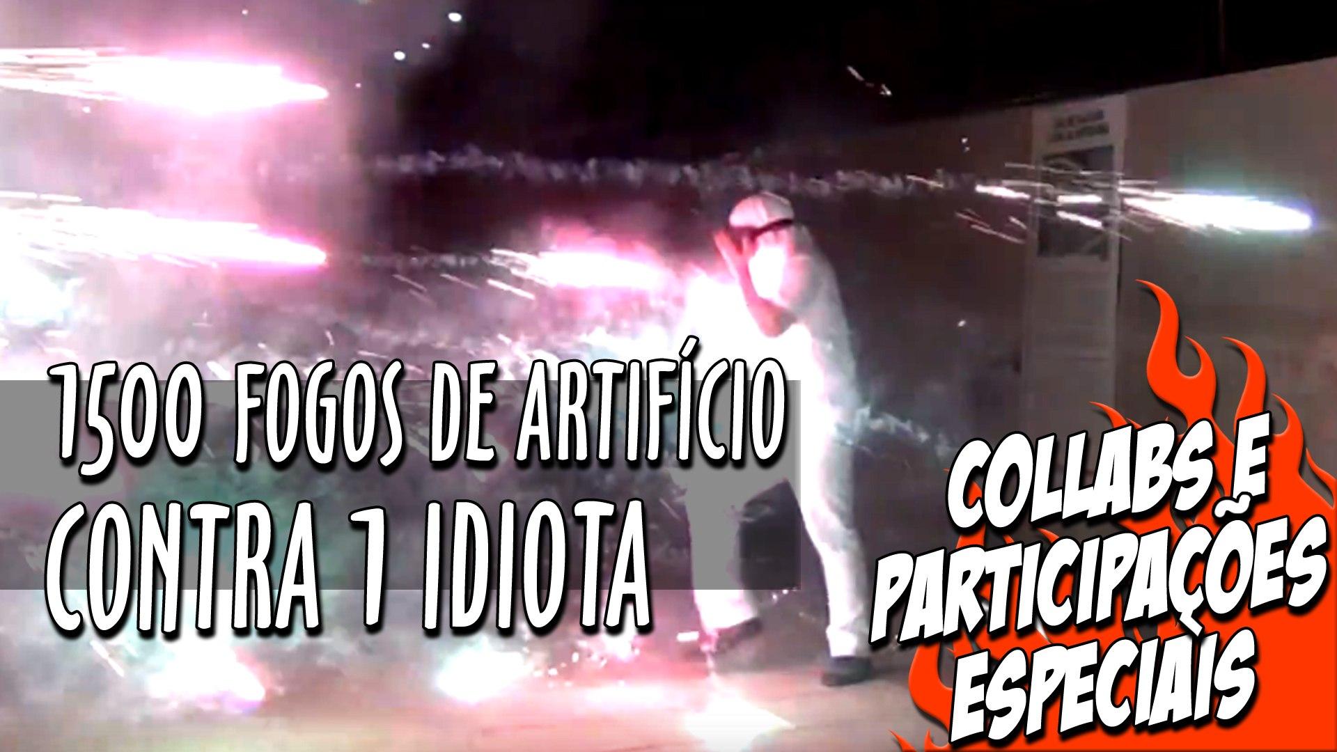 1500 Fogos de Artifício vs 1 idiota