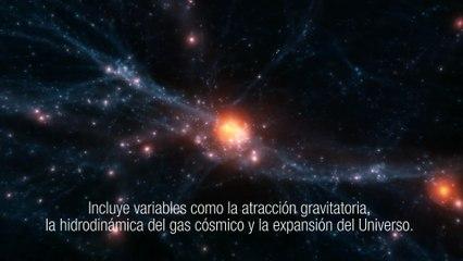 """Simulación de la formación y evolución de un cúmulo de galaxias con el supercomputador """"Teide-HPC"""""""