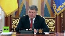Ukraine: NATO involved in training Ukrainian military, says Poroshenko