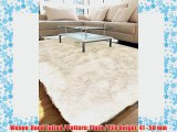 benuta Shaggy Rug Whisper White 240x340 cm - pollution-free - 100% Polyester - Plain - Hand