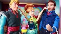 Frozen Fever Anna's Birthday Party Play Doh Cake  Elsa Olaf Kristoff Hans Barbie Parody Toy Video
