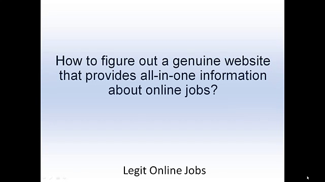 Legit Online Jobs – Thousands Of Legitimate Online Jobs Part Time and Full Time!