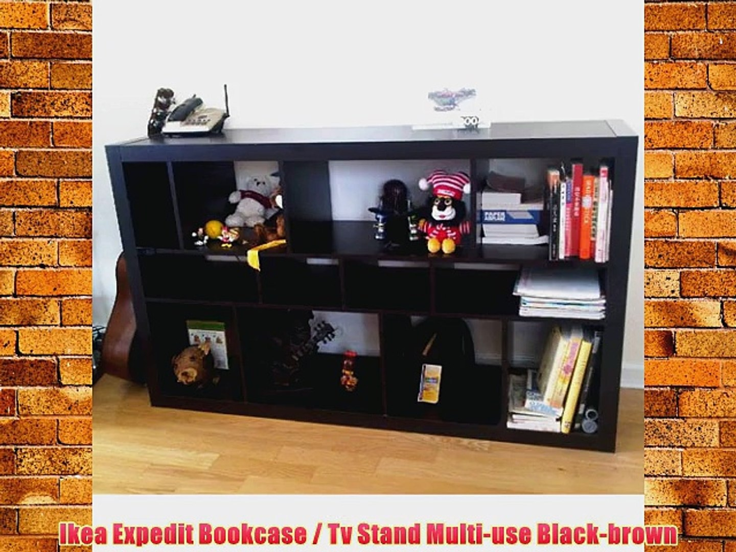 Ikea Expedit Bookcase Tv Stand Multi Use Black Brown