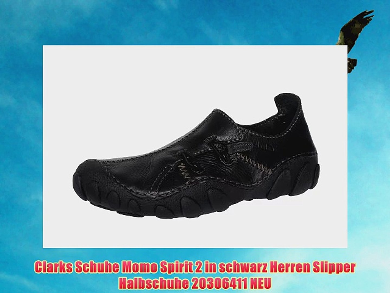 Clarks Schuhe Momo Spirit 2 in schwarz Herren Slipper