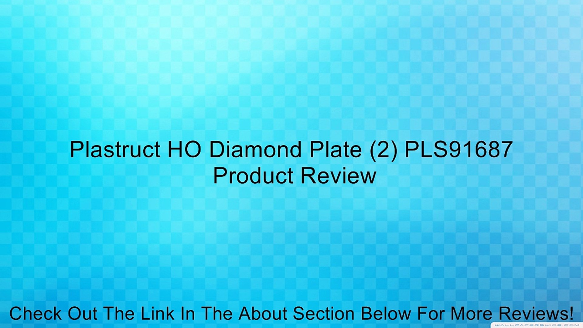 2 Plastruct PLS91687 HO Diamond Plate