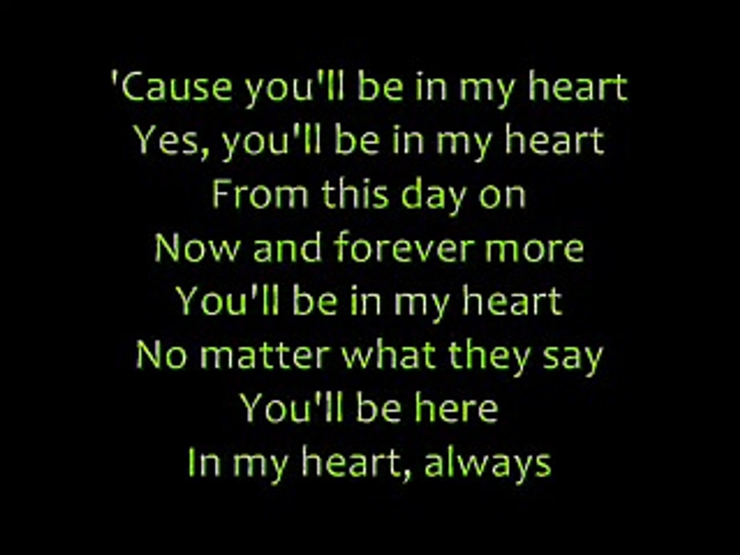 Phil Collins - You'll Be In My Heart with Lyrics - Vidéo Dailymotion