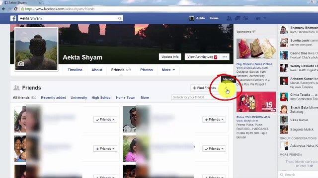 How to Hide your Facebook Friends List HD Videos PK