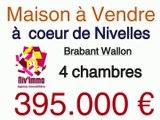 Maison à acheter au centre ville de 1400 Nivelles rue Saint Goerges à vendre avec 4 chambres , jardin, garage, terrasse