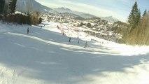 Essai avec ma caméra de sport au ski sur Les Carroz d'Arâches.