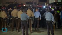 Time and Rain Cool Tempers As Protests And Hunt For Ferguson Shooting Suspects Continues