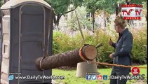 Public Toilet hit with Tree Prank - Just for Laughs GAGS
