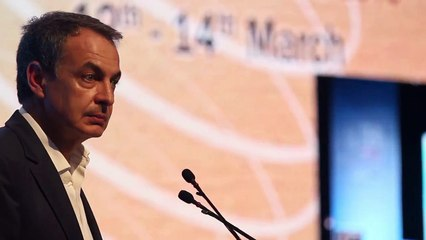Extrait de l'intervention de Mr Zapatero au Crans Montana Forum