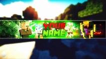 Minecraft | Banner Editable | Free GFX # 3 (Editable/Template)