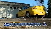 Un homme recherché pour avoir fait caca dans des voitures dans l'Ohio.