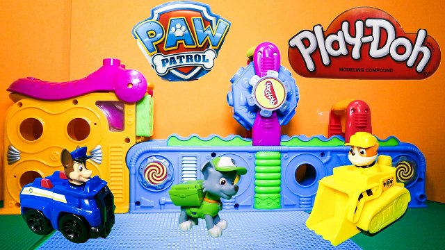 Paw Patrol Pup Squirters Play Doh Surprise Marshall Guess the Shopkins