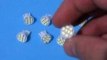 Lâmpada meia luz, lanterna, farolete, T10, 8 LEDS Branca com Efeito azulado