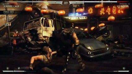 Mortal Kombat X - Johnny Cage Gameplay vs Scorpion & Sub Zero de Mortal Kombat X