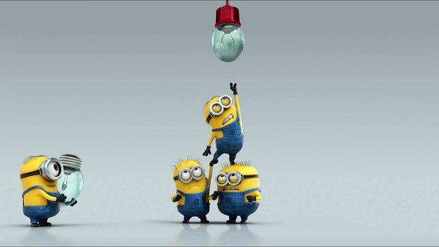 Minions Funny - Fix the lamp!