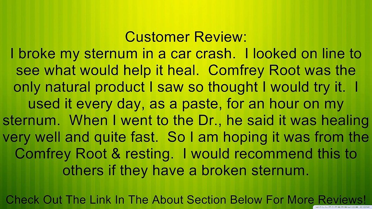 Comfrey Root, Cut & Sifted Frontier Natural Products 1 lbs Bulk Review