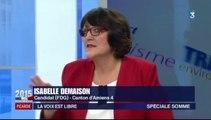 Isabelle Demaison, porte-parole du Front de gauche de la Somme aux départementales 2015