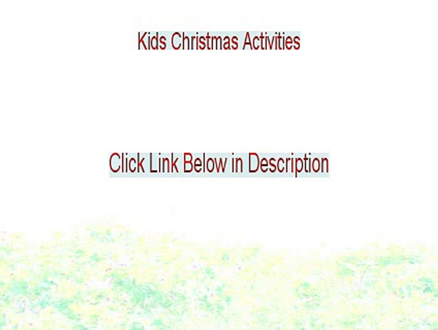 Kids Christmas Activities Free Review (Legit Review)