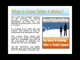 Grow Taller 4 Idiots Review - Secrets to Increase Height Fast