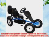 TecTake Go-kart Gokart Go Kart Pedal 2 Seater Outdoor Toy Racing Fun Kart blue
