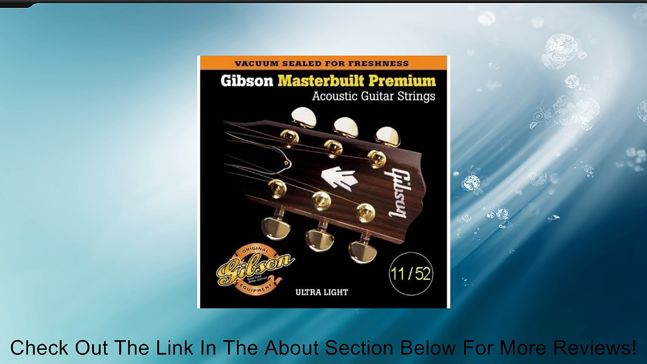 Gibson Masterbuilt Premium Phosphor Bronze Acoustic Guitar Strings, Ultra Light 11-52 Review