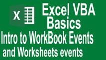 Excel VBA Basics! Workbook and worksheets events intro(Tut# 11| VBA Basics for Beginners)