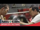 Nonito Donaire Jr. works with punch mitts