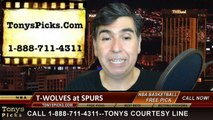 San Antonio Spurs vs. Minnesota Timberwolves Free Pick Prediction NBA Pro Basketball Odds Preview 3-15-2015
