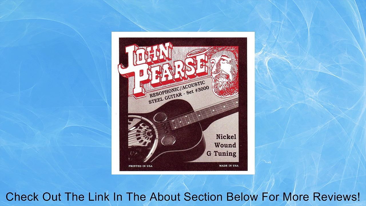 John Pearse P3000 Nickel Plated Acoustic Guitar Strings, Medium Review