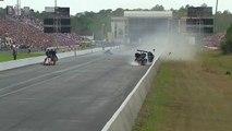 Accident de Dragster spectaculaire : le pilote Larry Dixon en sort miraculeusement indemne!