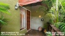 Single Family For Sale: 4002 KUMQUAT RD Coconut Grove, FL $725000