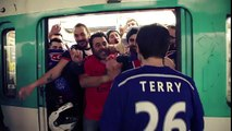 PSG Supporters Satirizing Chelsea Supporters' Racist Episode On Subway