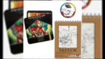 Prismacolor Premier Colored Pencil 72pc Set with US Art Supply Spiral Binding Sketch Pad & US ART Color Wheel
