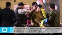 Jimmy Kimmel Wanted ABC to Cancel 'Jimmy Kimmel Live!' in First Year