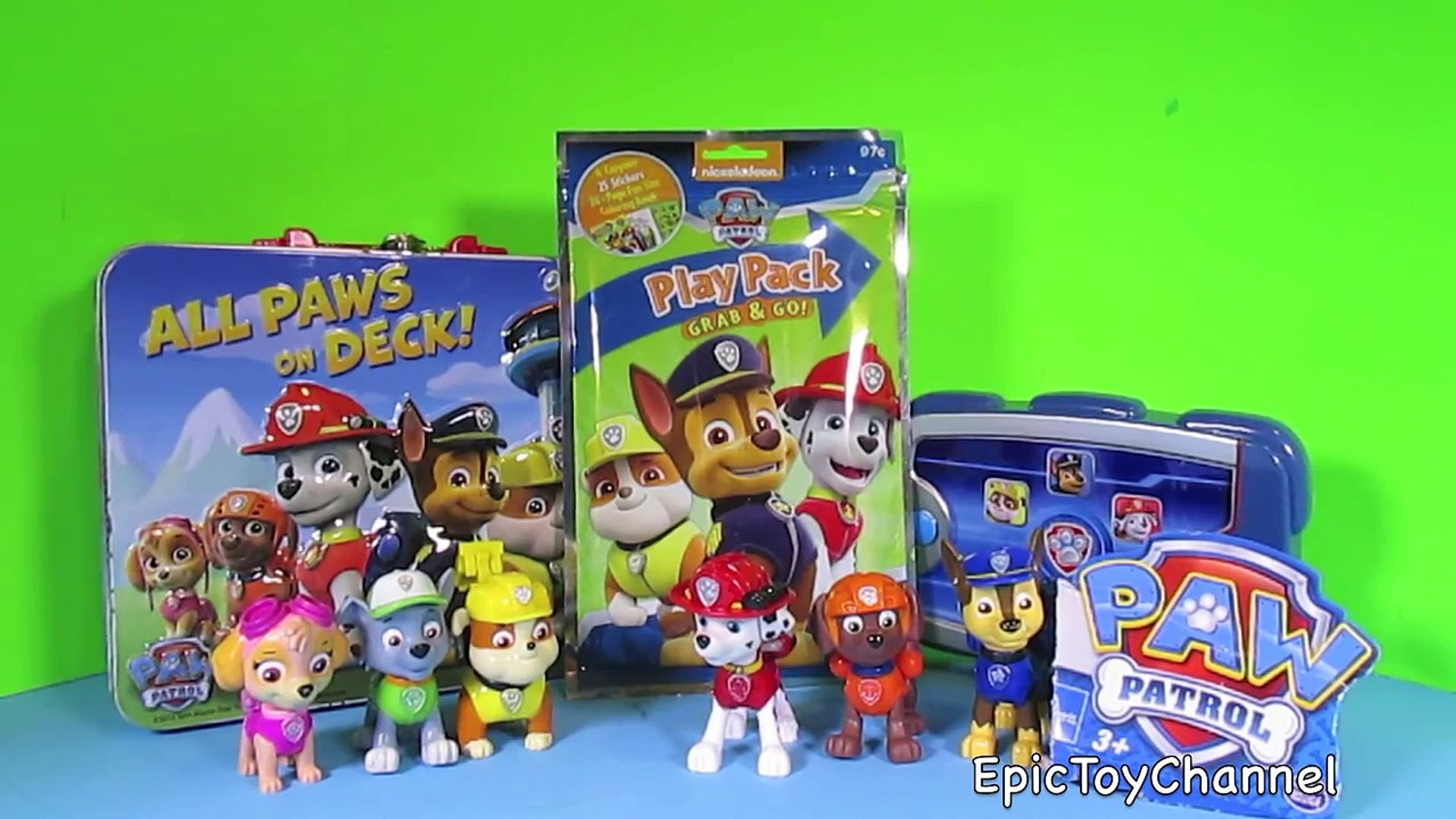 PAW PATROL Activities + Paw Patrol Toys a Toy Unboxing & Parody Video by  EpicToyChannel